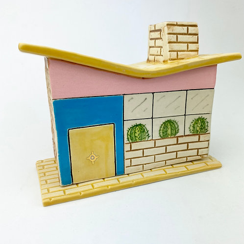 MCM  Pink/Turquoise House Incense Burner