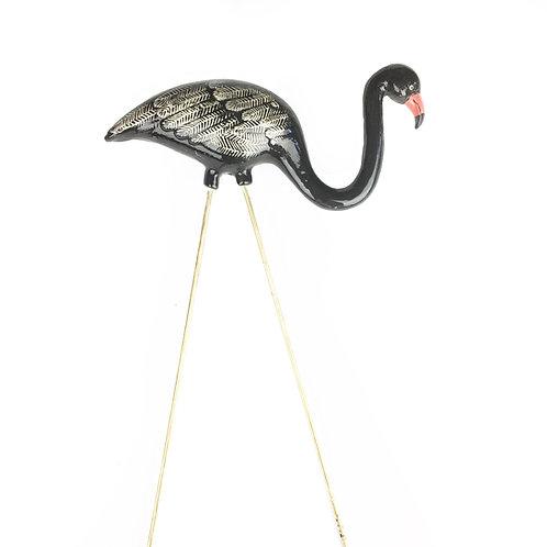 Tuxedo Ceramic Flamingo