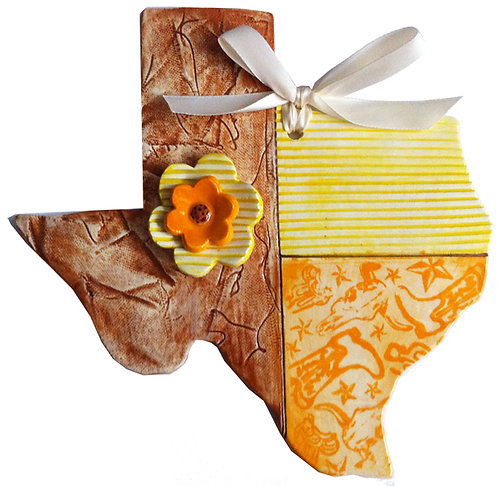 Ceramic Texas Flag Wall Hanging (Y'all)