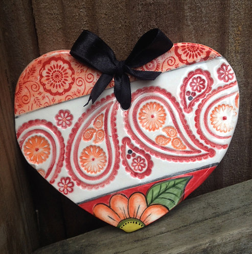 Ceramic Heart (Ruby)