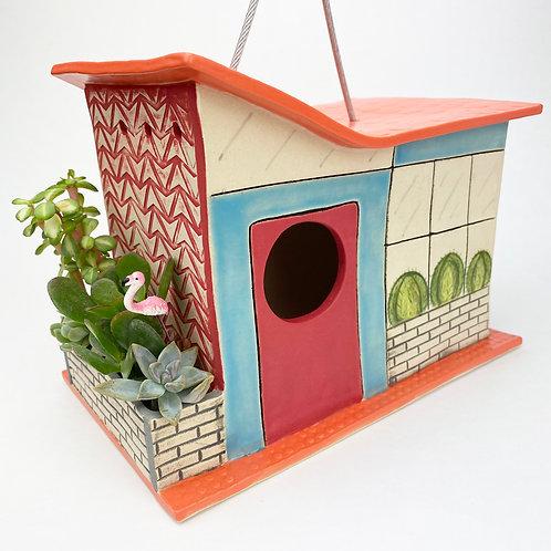 The Meadow Lark Mid Century Modern Bird House