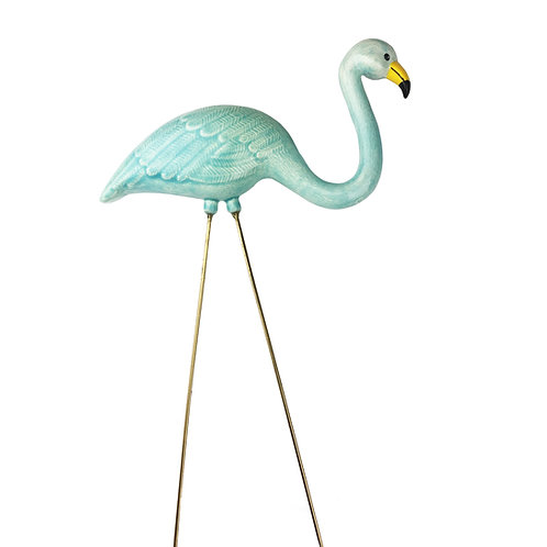 Celadon Ceramic Flamingo