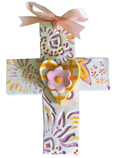 heart, baptism, christening, religious, communion, baby, shower, wedding, ceramic, cross