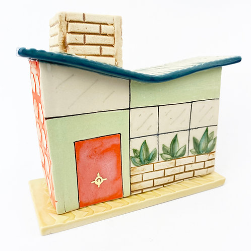 Mid Century Modern Butterfly Roof House Incense Burner