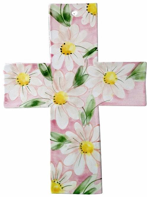 daisy, baptism, christening, religious, communion, baby, shower, wedding, ceramic, cross