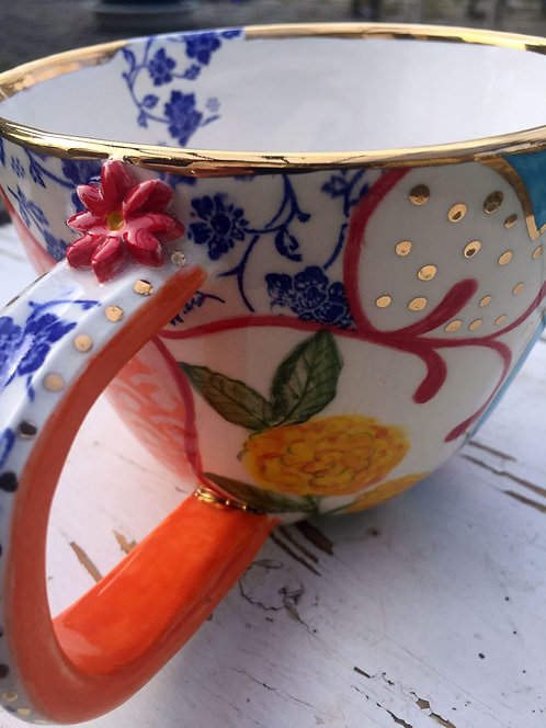 Ceramic Personalized Soup Cup and Plate (Mami Elba)