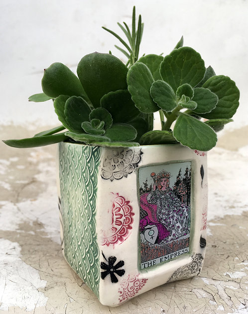 Tarot Card (The Empress) Succulent Planter