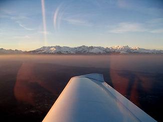 Paesaggio innevato - Aereo - Aeroclub Biella