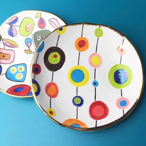 Ceramic Dessert Plate Froot Loop