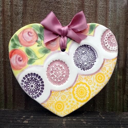 Ceramic Heart (Sunshine)