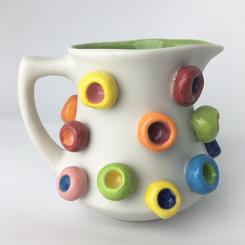 Small Froot Loop Ceramic Milk Pitcher