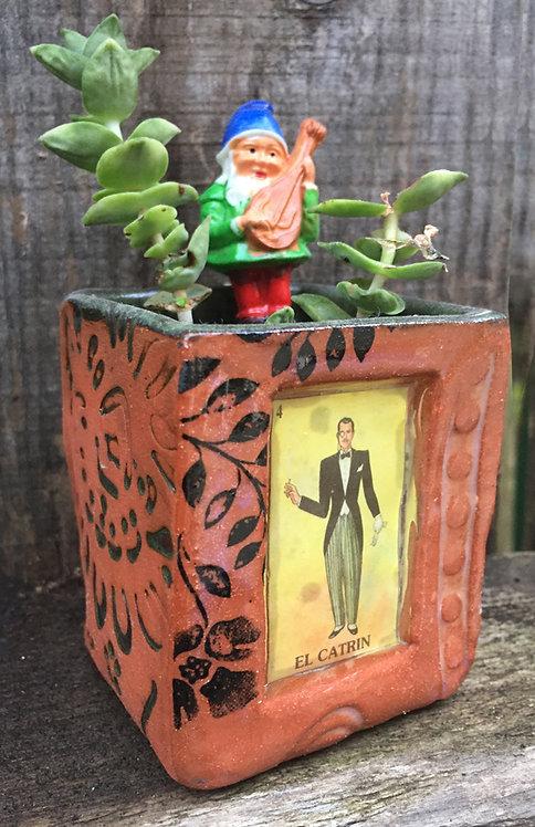 Lotería  El Catrín (the dandy) Succulent Planter