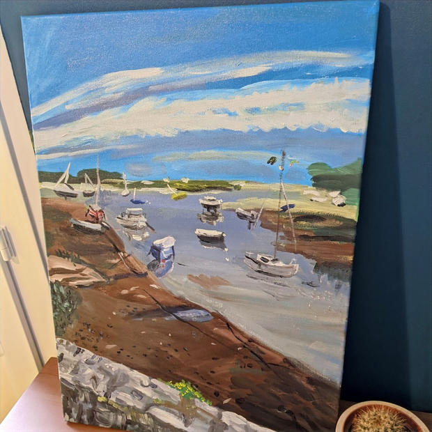 Lesconil acrylic painting