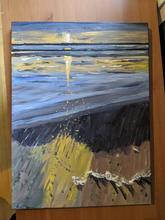 la torche acrylic painting