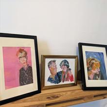 Portraits in acrylic