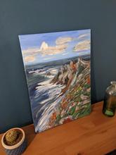 Pointe du raz acrylic painting