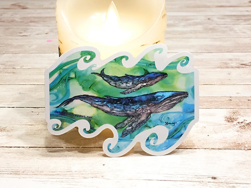 Sea Song waterproof sticker
