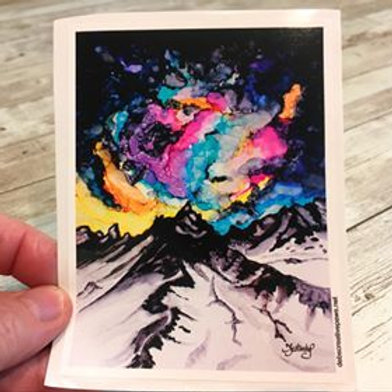Mountain Cosmos waterproof sticker