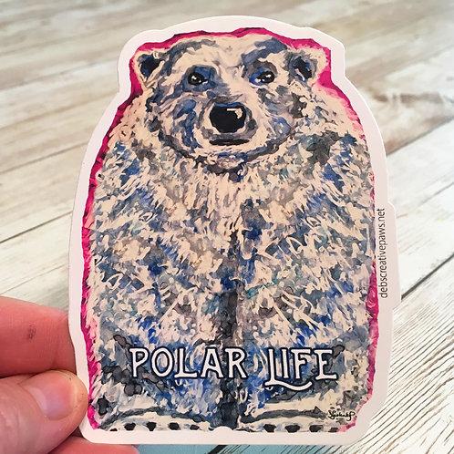 Polar Life waterproof sticker