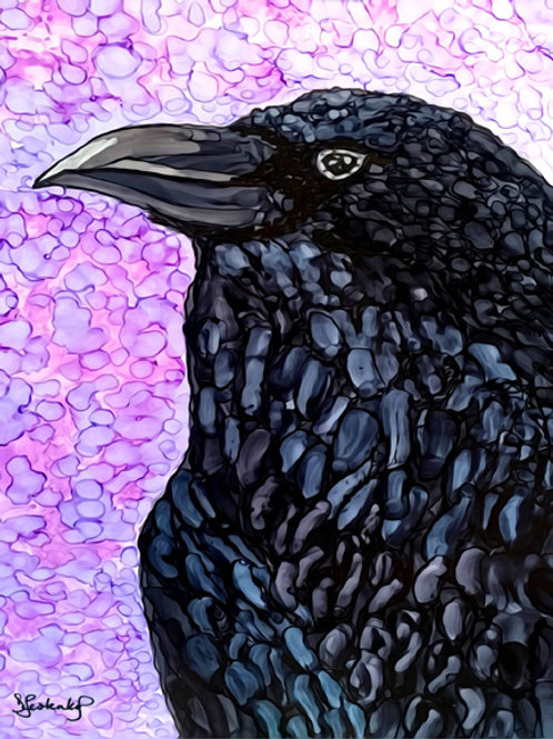 """""""Raven Eye"""",  alcohol ink painting"""