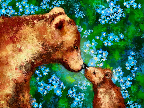 """""""Forget Me Not"""", alcohol ink painting"""