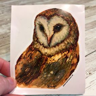 Barn Owl waterproof sticker