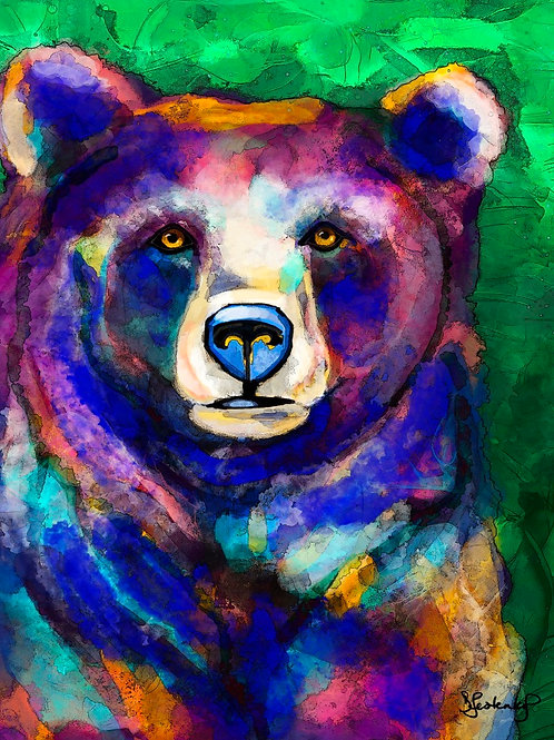 """""""Bear Palette"""", alcohol ink painting"""