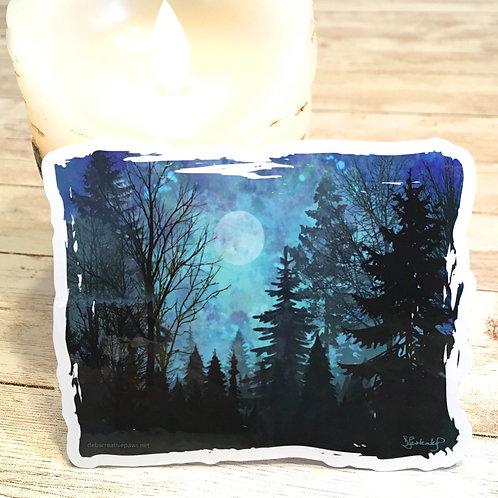 Moonlit Forest waterproof sticker