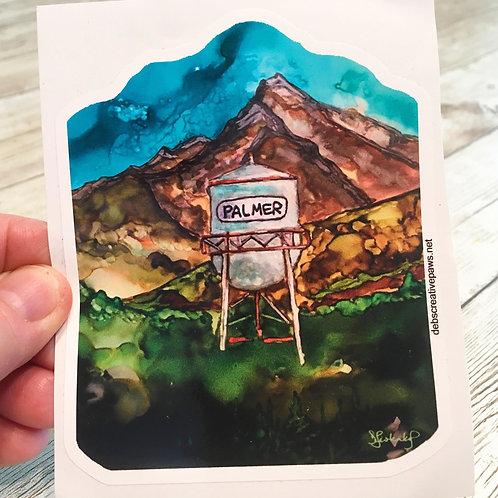 Palmer Water Tower waterproof sticker