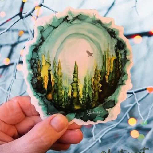 The Forest waterproof sticker