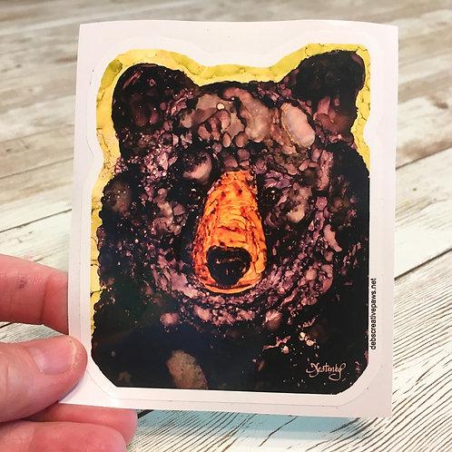 Black Bear waterproof sticker