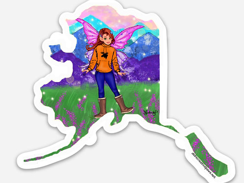 Fireweed Fairy Sticker waterproof sticker
