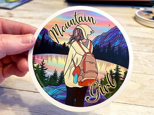 Mountain Girl waterproof sticker