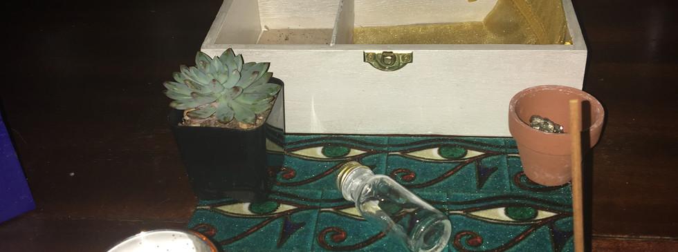 White Travel Altar