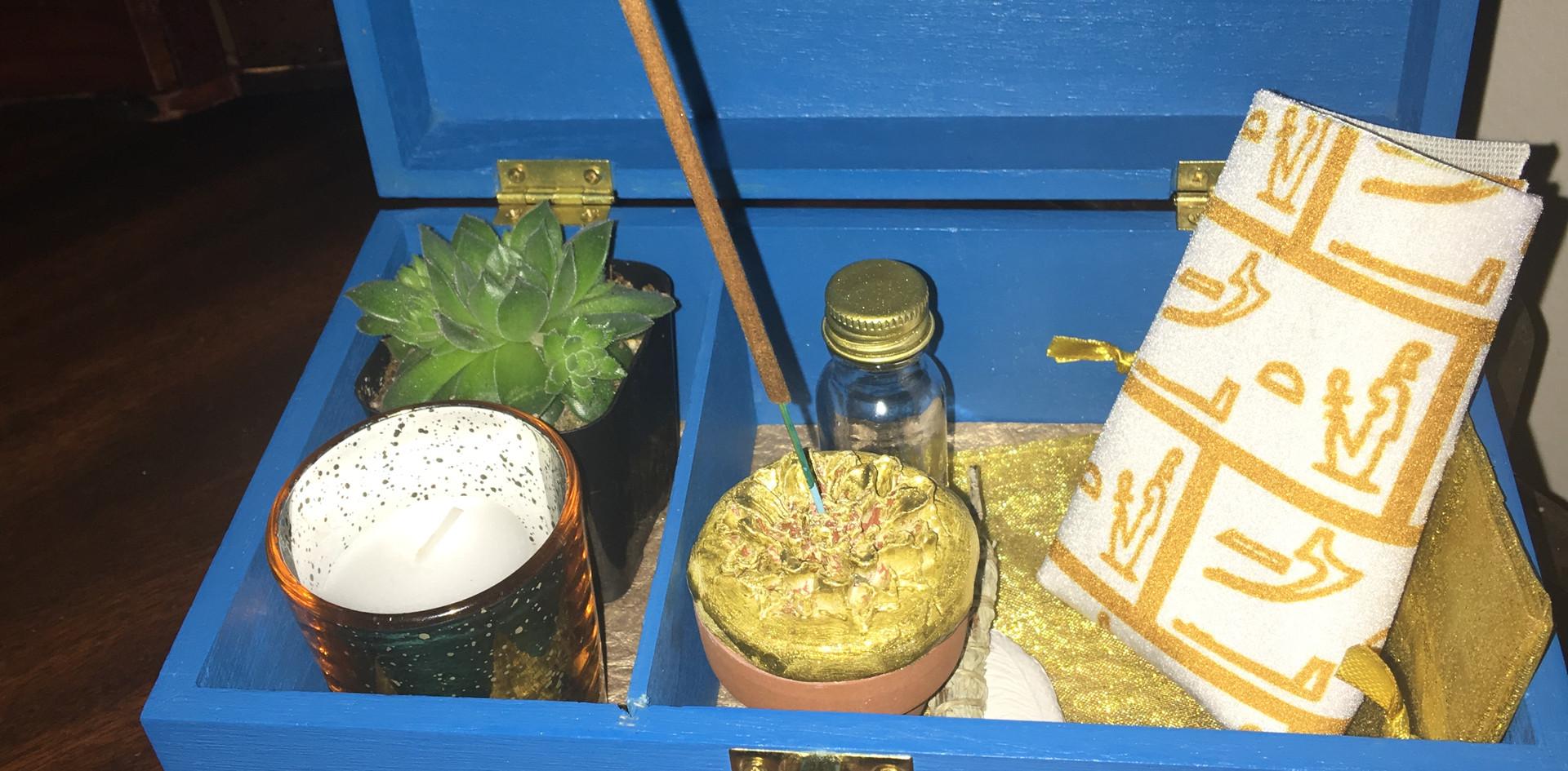 Light Blue Table Altar