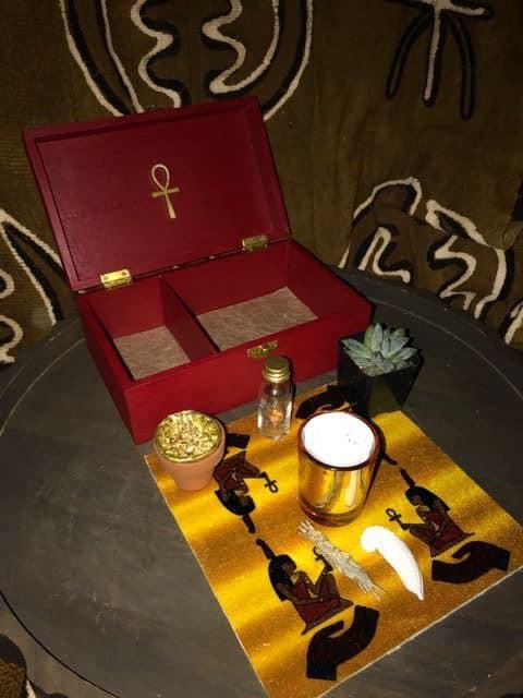 Red Travel Altar