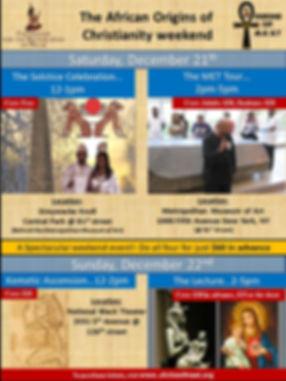 Origin of Christianity weekend 11-20-19.
