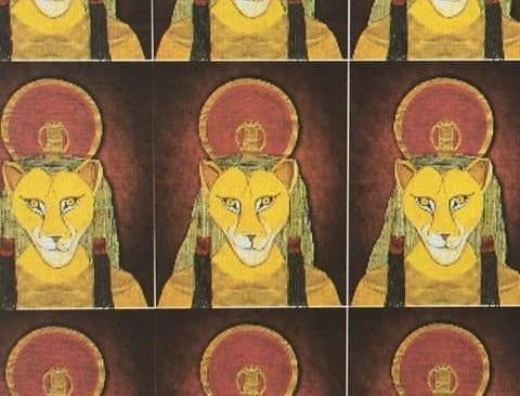 Sekhmet table cloth