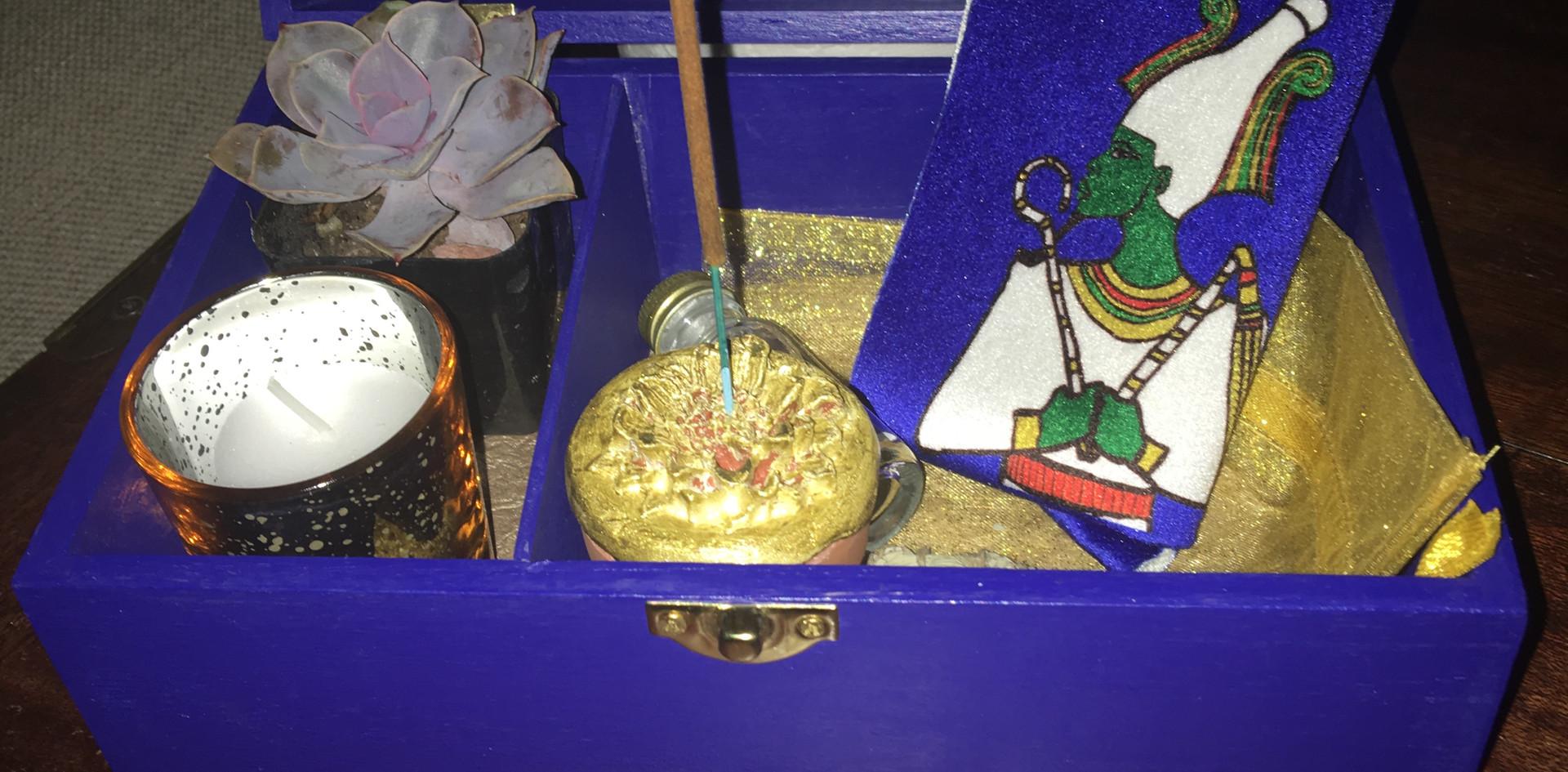 Royal Blue Travel Altar