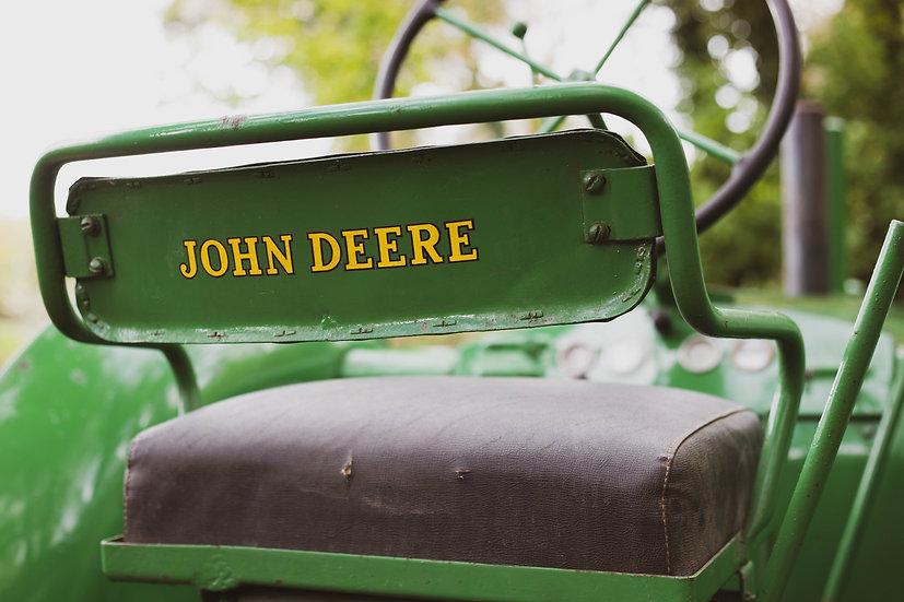 Greeting Card - John Deere 'Sitting Comfortably'