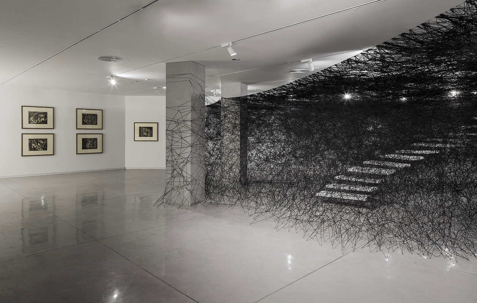Installation-Photograph-5,-Piranesi-Shiota--Prisons-of-the-Imagination-at-the-Tel-Aviv-Museum-of-Art