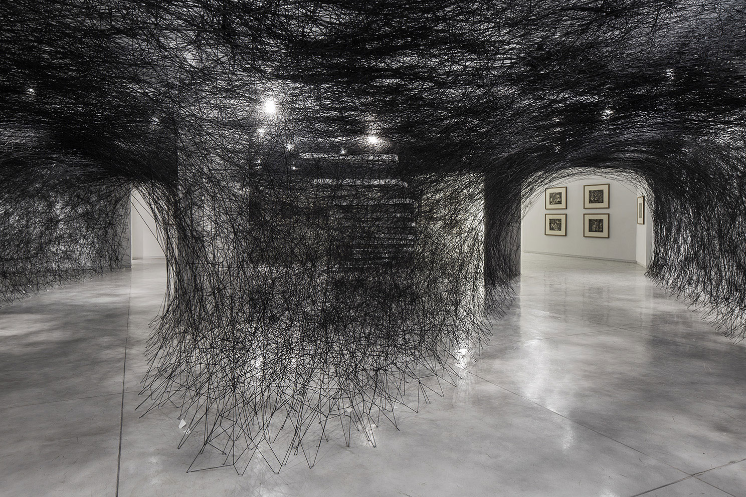 Installation-Photograph-1,-Piranesi-Shiota--Prisons-of-the-Imagination-at-the-Tel-Aviv-Museum-of-Art