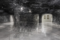Installation-Photograph-1,-Piranesi-Shiota--Prisons-of-the-Imagination-at-the-Tel-Aviv-Museum-of-Art