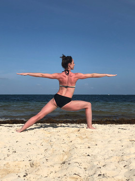 Warrior 2 at the beach