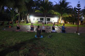 Evening class at camp