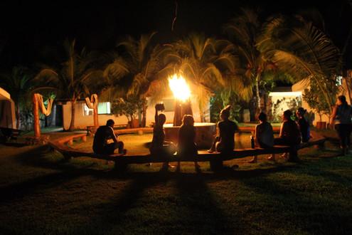 Gathering around the bon fire 2
