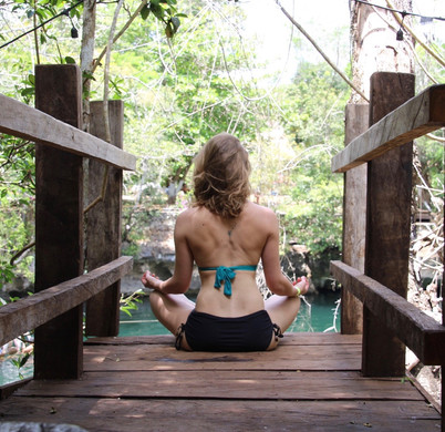 Relaxing time at cenote