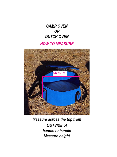Camp Oven Canvas Bag