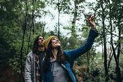 Myall Coast Tours couple enjoy a hike through a wonderful nature reserve