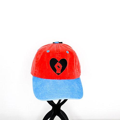 Black Power Fist- Denim Baseball Cap